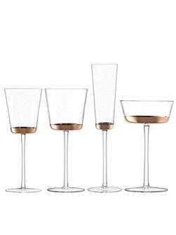 Edge champagne flute 160ml rose gold set of