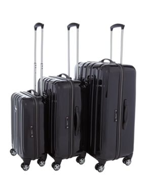 Linea Movelite Black Hard Luggage Set
