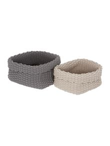 Gray & Willow Hayden Rope Basket Range