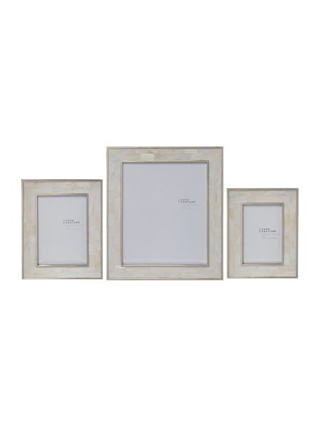 Casa Couture White mother of pearl frame 8x10