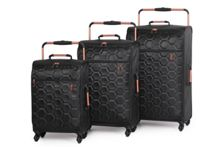 Linea Black Hexagon Emboss luggage set