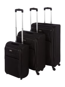 Antler Savannah black soft luggage set