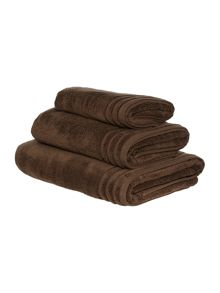 Zero twist bath towel range in coffee