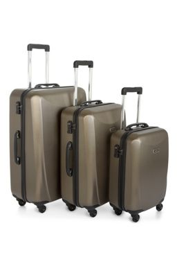 Antler Talara bronze 4 wheel hard luggage set