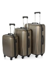 Talara bronze 4 wheel hard luggage set