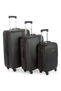 Antler Talara black 4 wheel hard luggage set