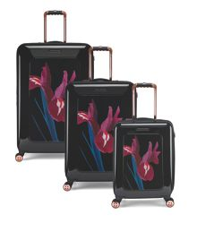 Stencilled Stem 8 Wheel Hard Luggage Set