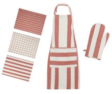 Gray & Willow Red Stripe Kitchen Linen Range