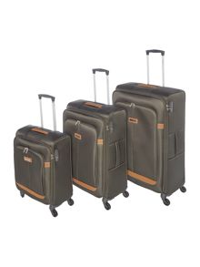 Samsonite Caphir Olive 4 wheel soft luggage set