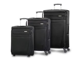 Samsonite Auva Black Soft Luggage Set