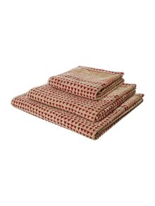 Linea Artisan Jacquard Towel Range in Red