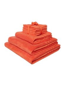 Linea Zero Twist Towel Range in Orange