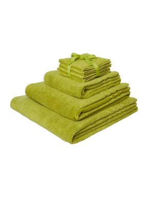 Linea Zero Twist Towel Range in Green