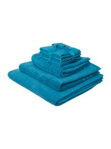 Linea Zero Twist Towel Range in Teal