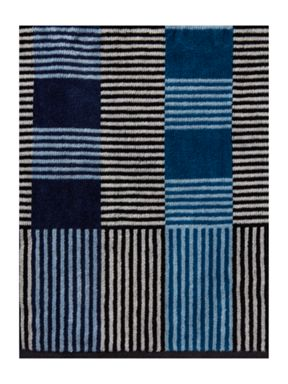 Linea Fragmented stripe towel range in blue