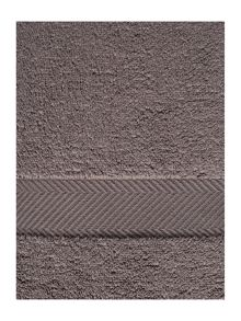 Luxury Hotel Collection Zero twist towel range in pewter