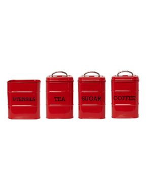 Linea Red tin kitchen storage range