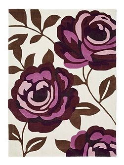 Plum Rose Bloom Rug 80/150