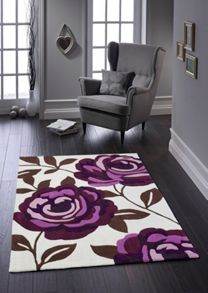 Origin Rugs Plum Rose Bloom Rug Range