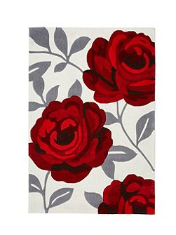 Red Rose Bloom Rug 80/150