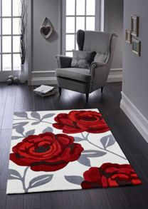 Origin Rugs Red Rose Bloom Rug Range