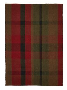 Origin Rugs Red Cosy Tartan Rug Range
