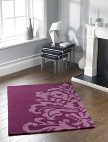 Origin Rugs Plum Damask Rug Range