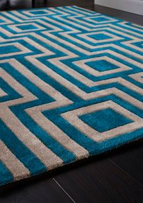 Origin Rugs Blue & Grey Geo Rug Range