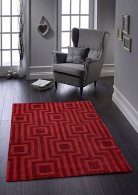 Origin Rugs Red Geo Rug Range