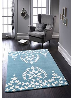 Duck Egg Memory Lace Rug 60/120