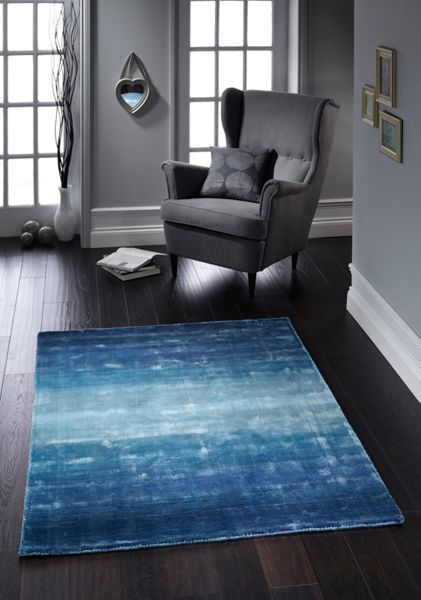Origin Rugs Duck Egg Ombre Rug 80/150