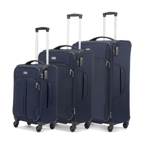 Antler Aire Navy 4 Wheel Soft Luggage Set