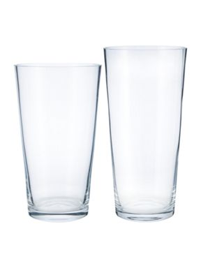 Linea Cylindrical Clear Glass Vase Range