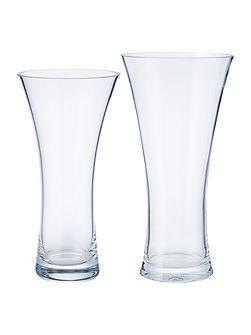 Flare clear vase 30cm