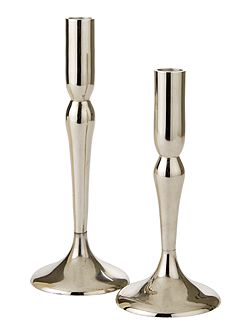 Nickel Finish Candleholder small