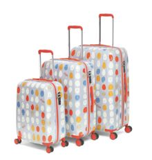 Radley DNA print 8 wheel hard luggage set