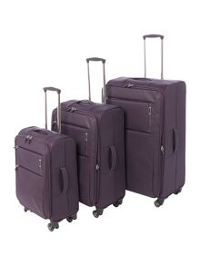 Linea Spacelite II purple 8 wheel luggage set