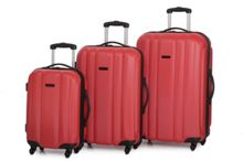 Linea Odel red 4 wheel luggage set