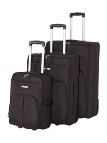 Linea Casablanca black 2 wheel luggage set