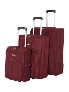 Linea Casablanca burgundy luggage set