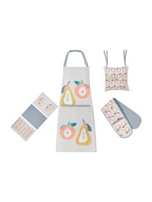 Dickins & Jones Apple and pears kitchen linen range