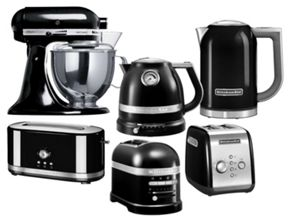KitchenAid Black kitchen appliances