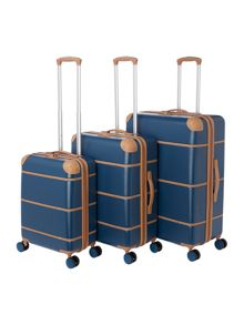 Dickins & Jones Vintage Blue 8 Wheel Luggage Set