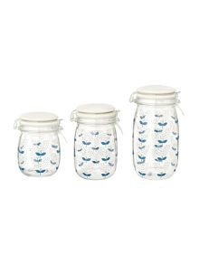 Dickins & Jones Printed glass jar range