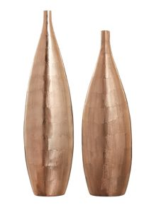 Casa Couture Celia Copper Metal Vase Range