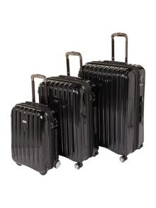 Linea Titanium II black luggage set