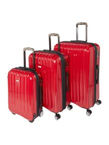 Linea Titanium II Red Luggage Set