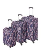 Linea Flora print soft luggage set