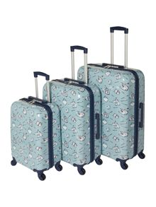 Dickins & Jones Summertime print blue luggage set