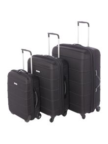 Linea Frameless Pod Black Luggage Set